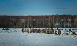 26 Februari 2017 de Vakantie van Maslenitsa in Borodino Royalty-vrije Stock Fotografie