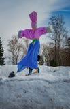 26 Februari 2017 de Vakantie van Maslenitsa in Borodino Stock Fotografie