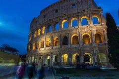 Februari 2018: Den forntida Roman Colosseum i Rome, Italien arkivbild
