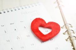 14 februari eller valentindag Arkivbilder