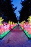Februari 2013 - Harbin, China - het Festival van de Ijslantaarn Stock Fotografie