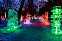 Februari 2013 - Harbin, China - het Festival van de Ijslantaarn Stock Foto's