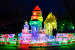 Februari 2013 - Harbin, China - het Festival van de Ijslantaarn Royalty-vrije Stock Foto's