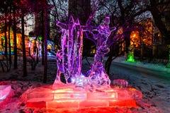 Februari 2013 - Harbin, China - het Festival van de Ijslantaarn Royalty-vrije Stock Afbeeldingen