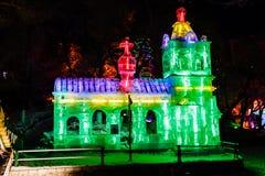 Februari 2013 - Harbin, China - het Festival van de Ijslantaarn Royalty-vrije Stock Fotografie