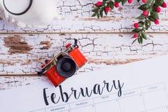 Februari-kalender Royalty-vrije Stock Foto's