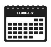 Februari-kalenderpictogram stock illustratie