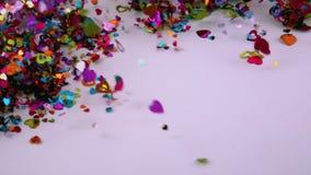 Februari 14 konfettiformer arkivfilmer