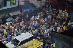 20 februari 2018 7:20p.m. Brand in Pasig Filippijnen stock foto