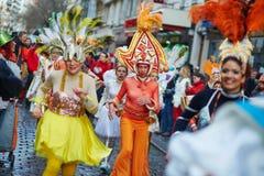 FEBRUARI 7, 2016 - PARIS: Traditionell Februari karneval i Paris, Frankrike Arkivfoto