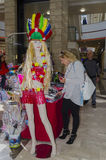 27 februari, Purim - bier-Sheva, Negev, Israël op 27 Februari, 2015 Royalty-vrije Stock Foto