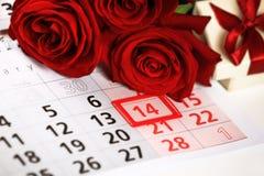 FEBRUARI 14 valentin dag Arkivbilder