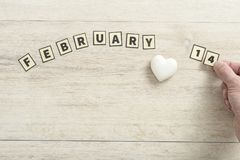 14 Februari valentinbegrepp Royaltyfri Bild