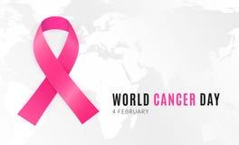 4 februari is werelddag wanneer alle mensen zich tegen kanker verenigen vector illustratie