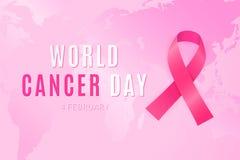 4 februari is werelddag wanneer alle mensen zich tegen kanker verenigen royalty-vrije illustratie