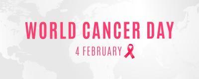 4 februari is werelddag wanneer alle mensen zich tegen kanker verenigen stock illustratie