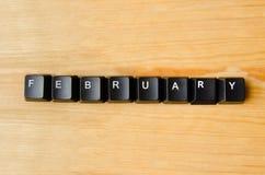 Februari-woord Royalty-vrije Stock Afbeelding