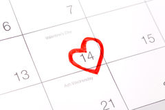 February 14th. Valentine's day royalty free stock photo