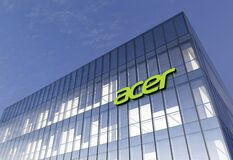 Free February 16, 2021. Editorial Use Only, 3D CGI. Acer Signage Logo On Top Of Glass Building. Workplace In High-rise Office Royalty Free Stock Photography - 211743887