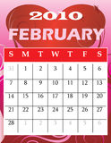 February 2010. Vector Illustration of 2010 Calendar with a monthly, I have all 12 months designed seperately or all 12 months in a single design Stock Images
