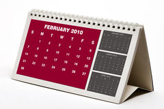 February 2010 Calendar. Isolated on white Royalty Free Stock Photography