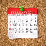 February 2014  Calendar Stock Photography