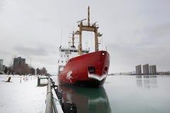Free February 28 2019 Windsor Ontario Transportation Docking Canadian Naval Coast Guard Ship Stock Images - 141697964