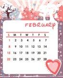 February. Decorative Frame for calendar - February vector illustration