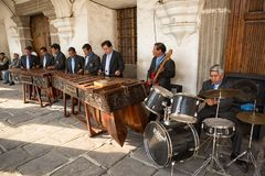 Marimba band in Guatemala Royalty Free Stock Photography