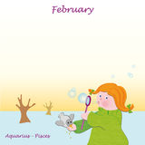 February base calendar to add the days Royalty Free Stock Photo
