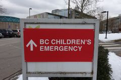 BC Children`s Emergency Hospital Direction royalty free stock photography