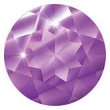February Birthstone-Amethyst. A stylized and abstract illustration of the stone Amethyst, February's birthstone. EPS file compatible with Adobe Illustrator 9 and royalty free illustration
