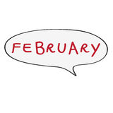 February bubble Royalty Free Stock Images
