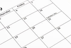 February Calendar Royalty Free Stock Photos