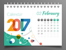 February 2017. Calendar 2017 Stock Photography