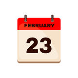 February 23 Calendar icon. Royalty Free Stock Images