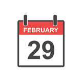 February 29 calendar icon. Royalty Free Stock Photo