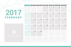 February 2017 calendar Royalty Free Stock Photos