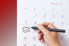 14 february calendar . Valentines day Stock Photo