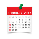 February 2017 calendar Stock Photos