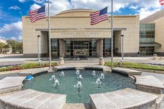 FEBRUARY 28, 2018 - COLLEGE STATION TEXAS - George H.W. Bush Presidential Library and. Library, Historic. FEBRUARY 28, 2018 - COLLEGE STATION TEXAS - George H.W royalty free stock photos