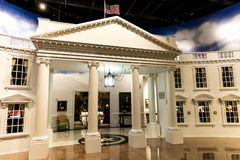 FEBRUARY 28, 2018 - COLLEGE STATION TEXAS - George H.W. Bush Presidential Library and Museum with. Bush Family, Library. FEBRUARY 28, 2018 - COLLEGE STATION royalty free stock photos