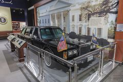 FEBRUARY 28, 2018 - COLLEGE STATION TEXAS - George H.W. Bush Presidential Library and Museum shows. History, Presidential. FEBRUARY 28, 2018 - COLLEGE STATION stock photo