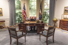 FEBRUARY 28, 2018 - COLLEGE STATION TEXAS - George H.W. Bush Presidential Library and Museum shows. College, History. FEBRUARY 28, 2018 - COLLEGE STATION TEXAS stock photography