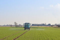 February crop spraying Royalty Free Stock Image
