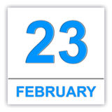 February 23. Day on the calendar. Stock Image