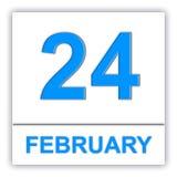 February 24. Day on the calendar. Stock Photo