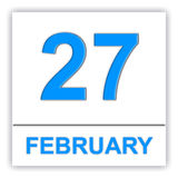 February 27. Day on the calendar. Stock Photography
