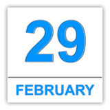 February 29. Day on the calendar. Royalty Free Stock Image