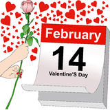February 14, a day full of love Stock Image